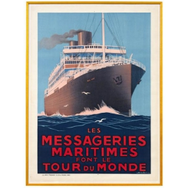 Affiche des Messageries Maritimes