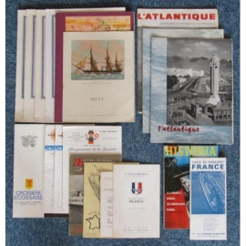 Lot de documents du paquebot FRANCE