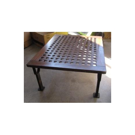 Table basse en teck et m tal jd pro marine for Table basse teck et metal