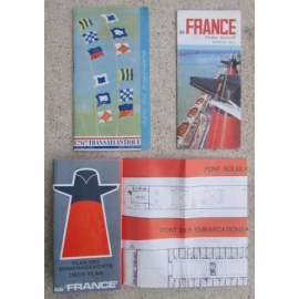 Lot de documents sur le paquebot FRANCE