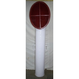 White lacquered Iron air vent - 220 cm