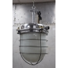 Ceiling lamp in aluminum and opal glass