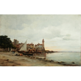 Oil painting by Henry MALFROY (1895-1944).