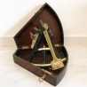 Octant ebony and brass early nineteenth S.